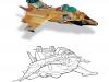 Un des premiers dessins du Cap'tain Foudre, d'après la maquette d'Olivier Wozniak.