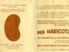 """Carton de promotion pour """"Des Haricots Partout"""" 1980 collection particulière recto"""