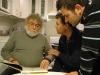 Séance de travail chez Fournier janvier 2012 : JC Fournier, JL Bocquet et Nicoby