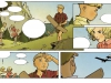 test de couleurs 4 : les décors et les personnages sont travaillés avec des effets.  Werner est désormais colorié de manière plus soutenue pour le différencier de son ami et symboliser son caractère plus affirmé.