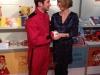 Spirou main dans la main avec la nouvelle directrice de la Première, Corinne Boulangier