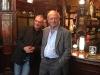 Francq et Van Hamme dans le pub Princess Louise