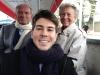 Jean Van Hamme, sa compagne et David Jolly