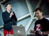 Louis-Antoine Dujardin, rédacteur en chef de Spirou.Z, et Steve Baker.