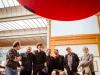 Les auteurs de Spirou  : De gauche à droite : Frank Pé, Yoann, Vehlmann, Marc Hardy, Olivier Schwartz, Janry, Fabrice Parme. Au premier plan : Yann et Frank le Gall.
