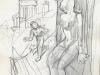 Le Spirou de Schwartz et Yann : La femme Léopard (crayonnés d'une couverture du Journal de Spirou)