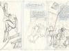 Le Spirou de Schwartz et Yann : La femme Léopard (crayonnés)