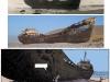 Le même bateau en 1962, 2009 et dans l'album en 2013