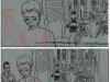 Le quartier chinois : des crayonnés au dessin final