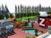 Image 3D du Parc Spirou dont l'ouverture est prévue pour le printemps 2015.