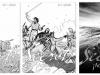 """Adelante : trois propositions de couverture par J. Rey pour le tome 2 de """"Adelante"""""""