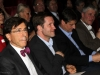 Au premier plan, Elio Di Ruppo, Premier Ministre belge