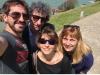 Denis Lapière et Laurence Van Tricht ont bénéficié d'une petite visite de Biarritz guidés par Mathieu Reynès et Valérie Vernay.