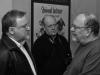 Salma en grande discussion avec JC de la Royère et JJ Procureur