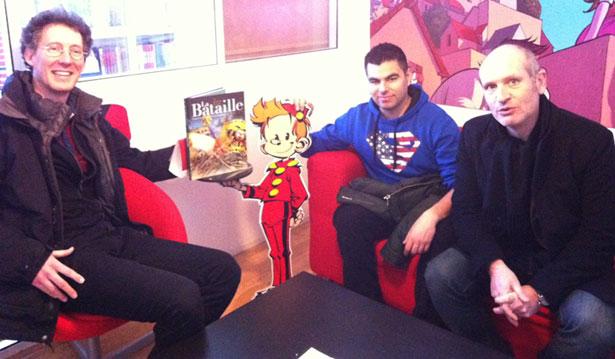 Ivan Gil et Frédéric Richaud avec leur éditeur, Louis-Antoine Dujardin
