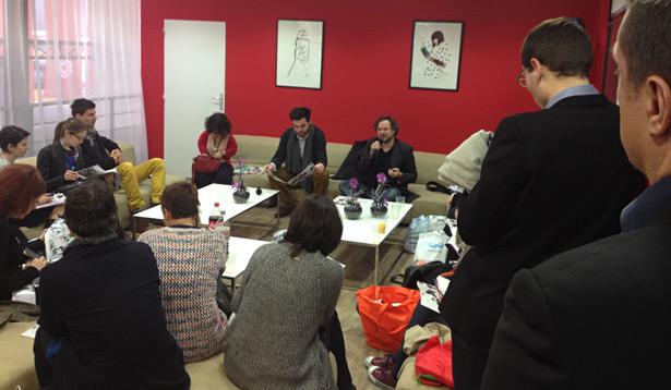 Session libraires au salon du livre 2014.