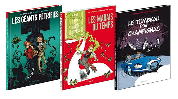 Redécouvrez la collection Le Spirou de... comprenant trois nouvelles couvertures.