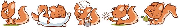 Spip, l'écureuil, relooké par Bertschy, auteur de Nelson