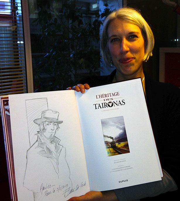 Elvire de Cock, dessinatrice et Coloriste de L'héritage des Taïronas