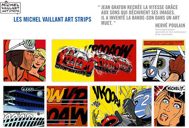 Avec Michel Vaillant Art Strips, la BD fait son entrée dans le monde de l'Art Contemporain.
