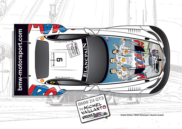 Michel Vaillant aux 24 heures de Spa-Francorchamps
