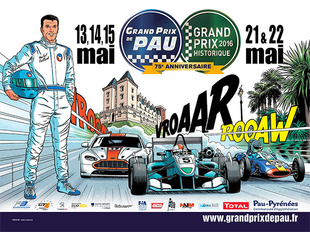 Michel Vaillant invité d'honneur au Grand Prix de Pau 2016