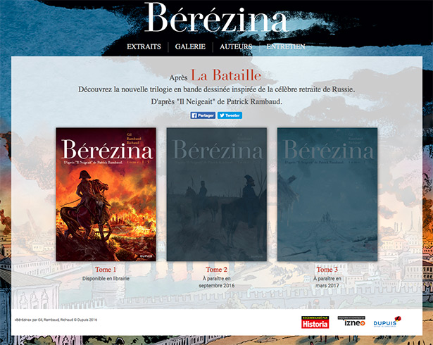 Bérézina, le site officiel
