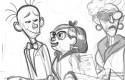 Le Spirou de Benoit Feroumont : croquis de Fantasio, Clothilde et sa mère