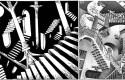 """Hommage de Clarke à Escher et son fameux tableau """"Relativité"""""""