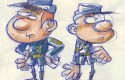Des histoires courtes des Tuniques Bleues : crayonné (Baba et Lapuss')