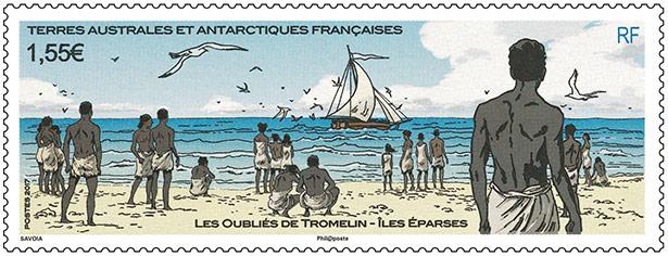 Timbres Les esclaves oubliés de Tromelin