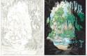 Marsupilami, tome 30 : Crayonné et dessin final de la première planche