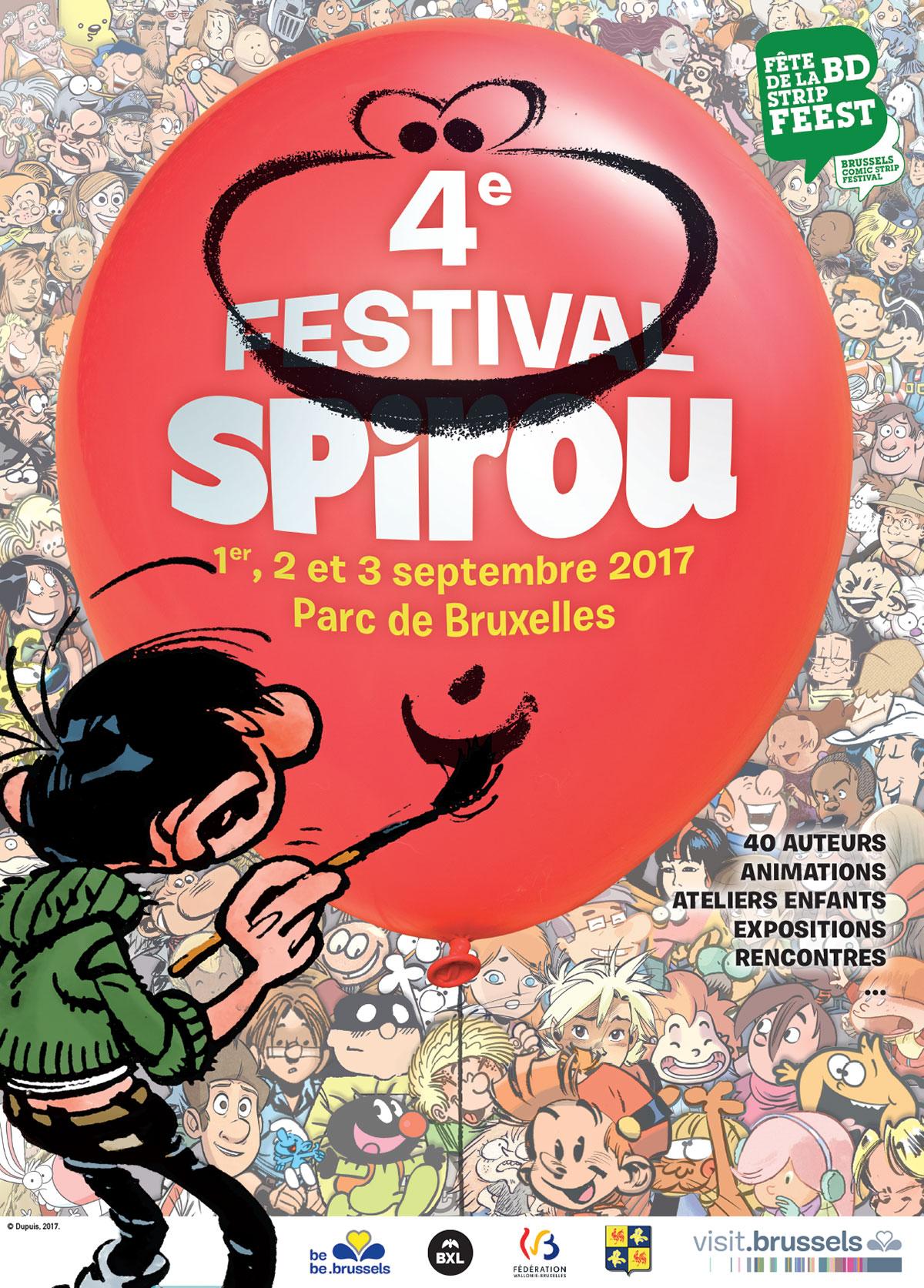 Affiche du 4e Festival Spirou